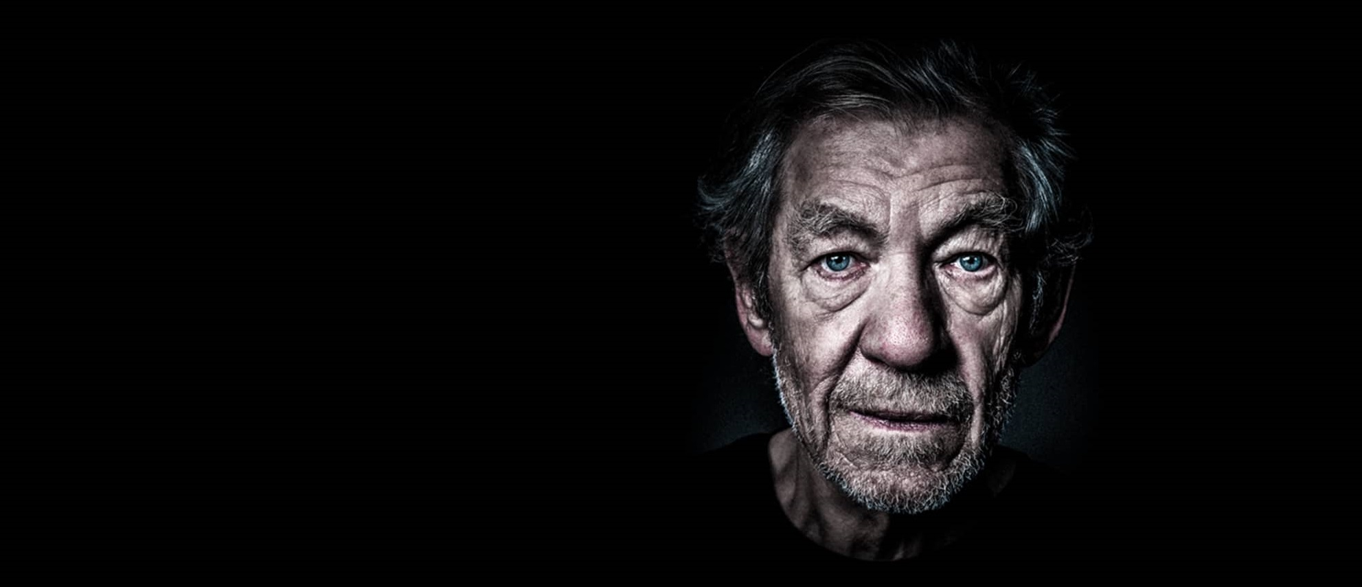 Ian McKellen as King Lear on screen at the Manning Entertainment Centre